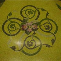 水磨石地坪铜条花-铜花图案定做铜花铜字