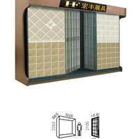 供应双排平推式瓷砖展示柜,地面砖展柜