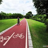 供应城市景观道路面自行车道陶瓷颗粒路面
