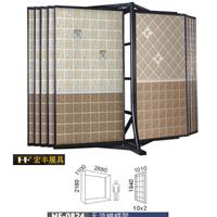 供应多用途瓷砖展示柜,翻页双面展示,展具