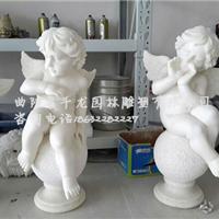 供应千龙雕塑汉白玉天使雕塑石雕天使价格