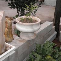供应石雕花盆 曲阳石雕 禅石雕塑