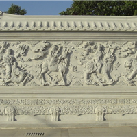 供应石雕石影墙 曲阳石雕 禅石雕塑