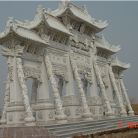 供应石雕牌楼 曲阳石雕 禅石雕塑