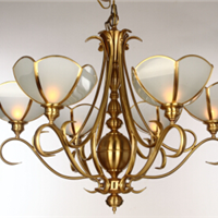 现代纯铜材质客厅吊灯,全铜焊锡吊灯
