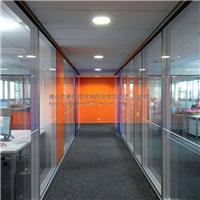 办公玻璃隔断 隐框高间隔  明框玻璃隔墙