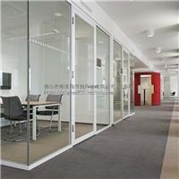 28单波玻璃隔断 单层玻璃隔墙 办公室高间隔