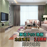 供应家用pvc塑胶地板 耐磨地板革厂家
