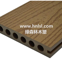 供应木塑空心地板 140*24mm 绿森林木塑