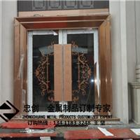 供应忠创豪门不锈钢推拉门,不锈钢地弹簧门