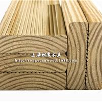 美国南方松拉丝地板 开槽加工防腐木 规格