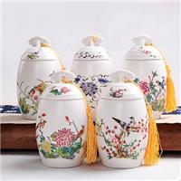 供应陶瓷茶叶罐 青花瓷茶叶罐