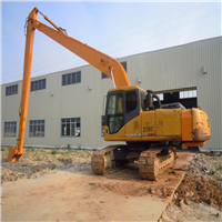 供应挖掘机加长臂清理河涌淤泥,二段加长臂
