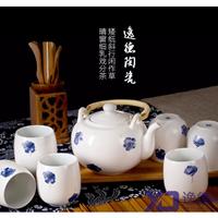 供应 茶具订做厂家 手绘青花瓷茶具