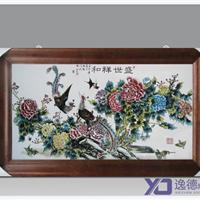 供应景德镇瓷板画 手绘青花瓷板画 陶瓷壁画