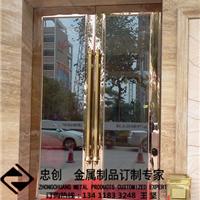 不锈钢酒店工程不锈钢地弹簧门 ZC-DTH001