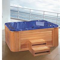 供应8005户外SPA长形亚克力按摩冲浪浴缸