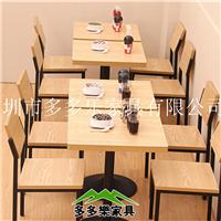 酒店餐厅板式桌椅定制 多多乐家具