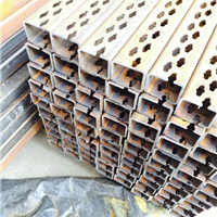 供应不锈钢焊接长方管高速自动冲孔机