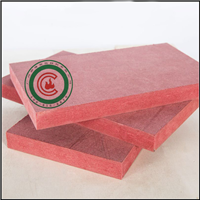 供应多规格红色阻燃密度板