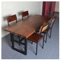 供应铁艺实木餐桌椅 定做美式复古家具