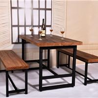 铁艺餐桌饭桌椅组合 美式乡村实木家具