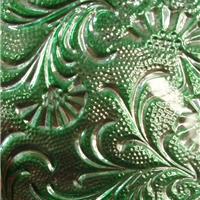 供应翡翠绿凤尾纳米压花彩镜
