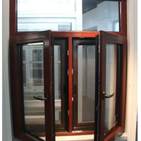 铝包木金刚网纱窗一体 家装、防盗首选