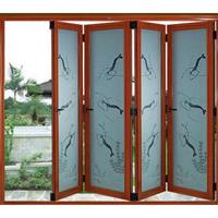 高档铝合金门窗品牌为国人订制大小折叠门