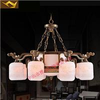 室餐厅云石灯全铜吊灯