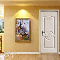 韩式竹木新款白色套装门 YK-705