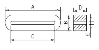 排线磁环33.5*3*12