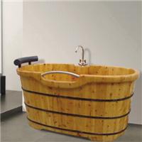 供应008A豪华家用冲浪按摩特级香柏木浴缸