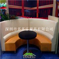 厂家定制多多乐家具 钢木材质桌椅卡座沙发