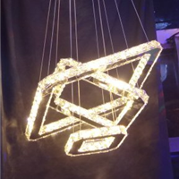 供应圆形线切割水晶吊灯,现代最新款水晶灯