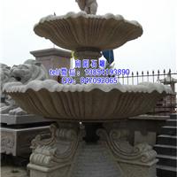 郑州黄锈石喷泉水钵|黄金麻喷泉|景观水钵
