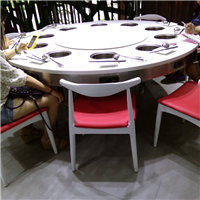 供应大理石火锅桌 电磁炉火锅桌