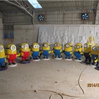 树脂雕塑-小黄人卡通现货  青海玻璃钢厂家