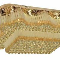 供應酒店金色水晶燈,金色水晶燈廠家批發