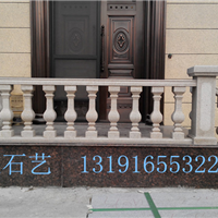 安装黄锈石桥栏杆,黄砂岩宝瓶柱栏杆