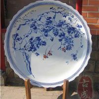 供应青花山水大瓷盘 年年有鱼大瓷盘