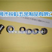 供应小沉头柱纹不锈钢拉帽 国标M6拉铆螺母