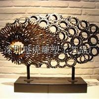 供应铁艺雕塑摆件酒店装饰品
