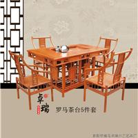 供应花梨木罗马茶台5件套卓瑞红木家具