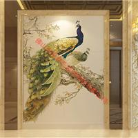 爱瓷艺3D沙发背景墙体全国招商广州站孔雀