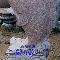 石雕海豚|石雕喷水鱼|石雕喷水鲤鱼