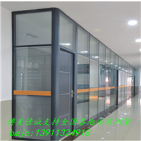 办公室隔断墙铝镁合金高隔墙玻璃隔断