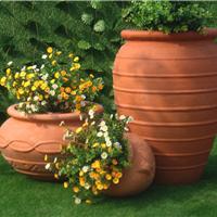 供应欧式花盆景观陶罐红土陶罐红土陶花盆
