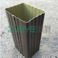 供应吉林2015款方形彩铝雨水管90*120MM工厂