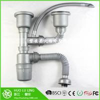 厨房不锈钢水槽 单双槽洗菜盆下水管